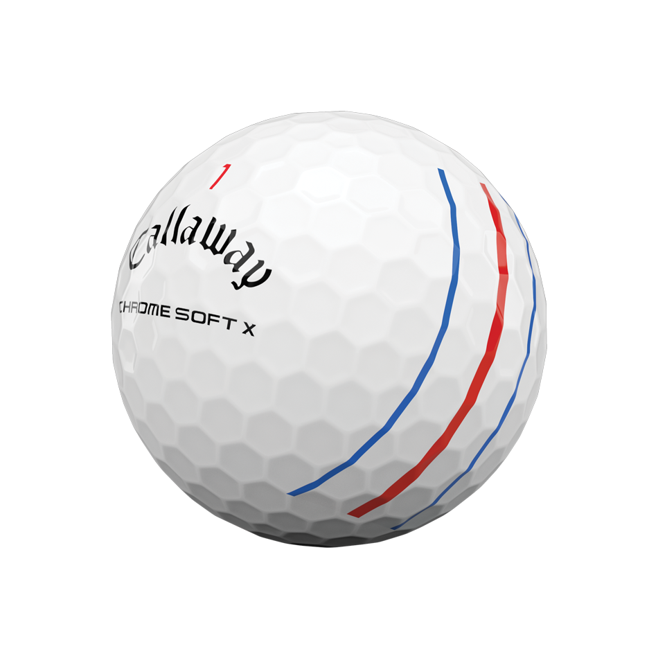 Chrome Soft X Triple Track Logo Golf Balls - View 4