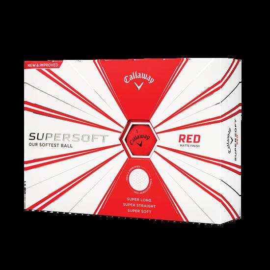 Callaway Supersoft Matte Red 2019 Golf Balls