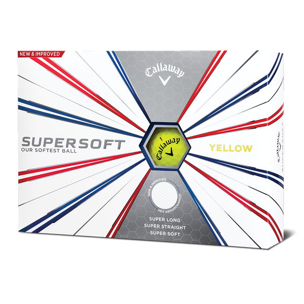Supersoft Yellow Logo Golf Balls - View 1