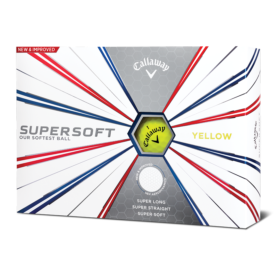 Supersoft Yellow Logo Golf Balls - Featured