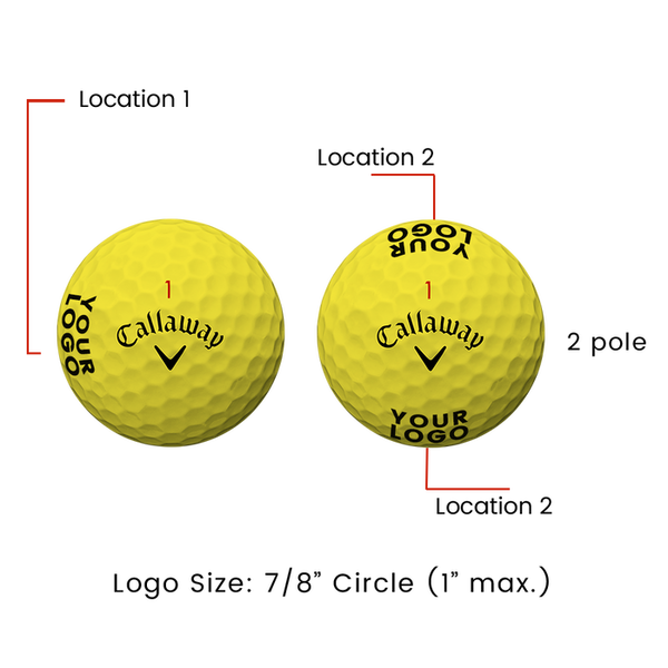 Supersoft Yellow Logo Golf Balls - View 3