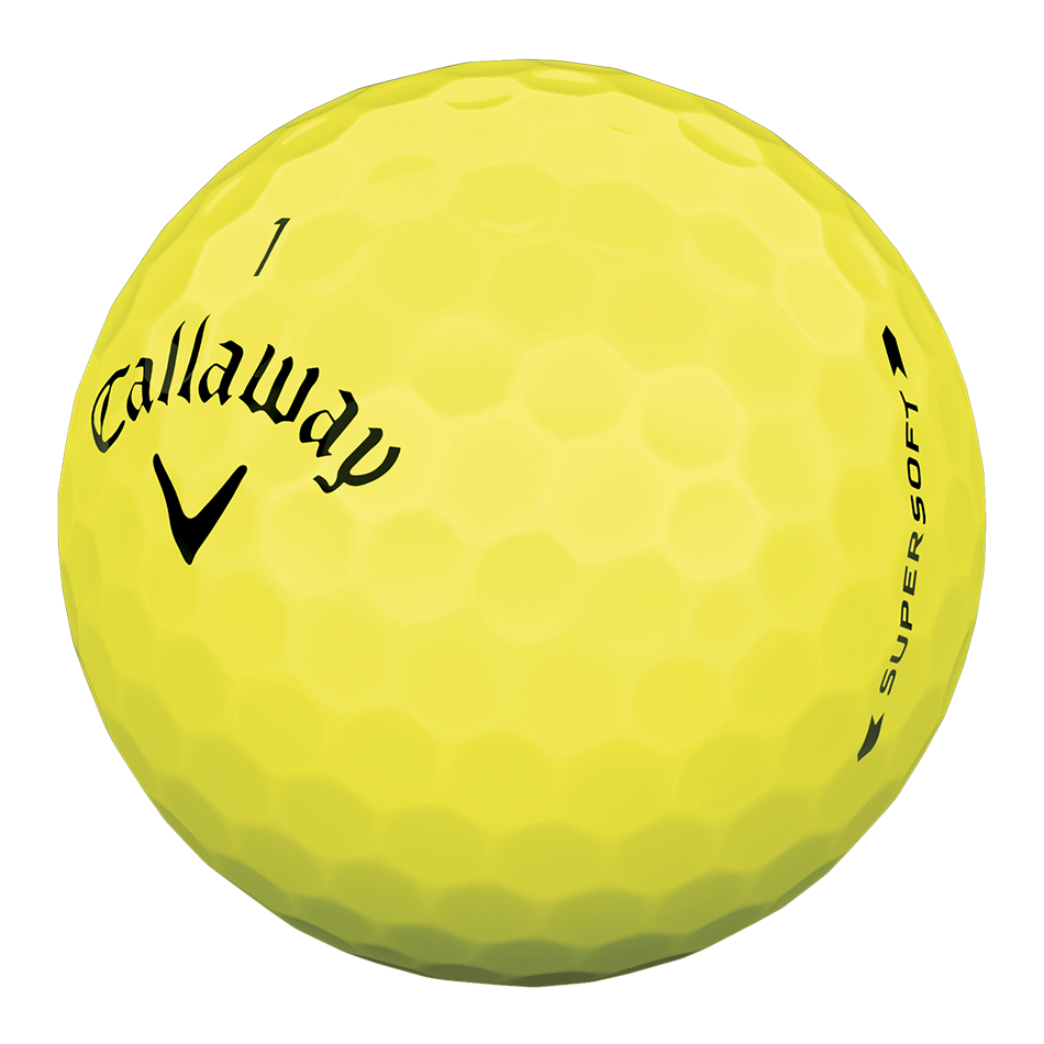 Supersoft Yellow Logo Golf Balls - View 4