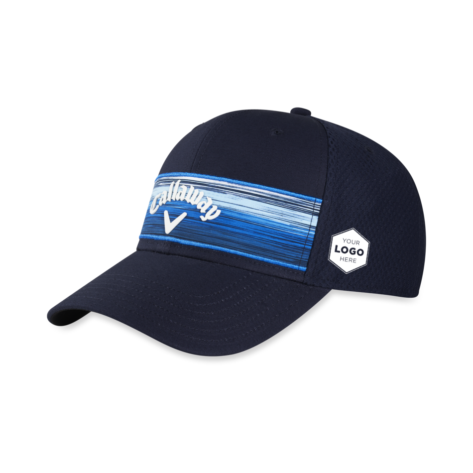 Stripe Mesh Logo Cap - View 1