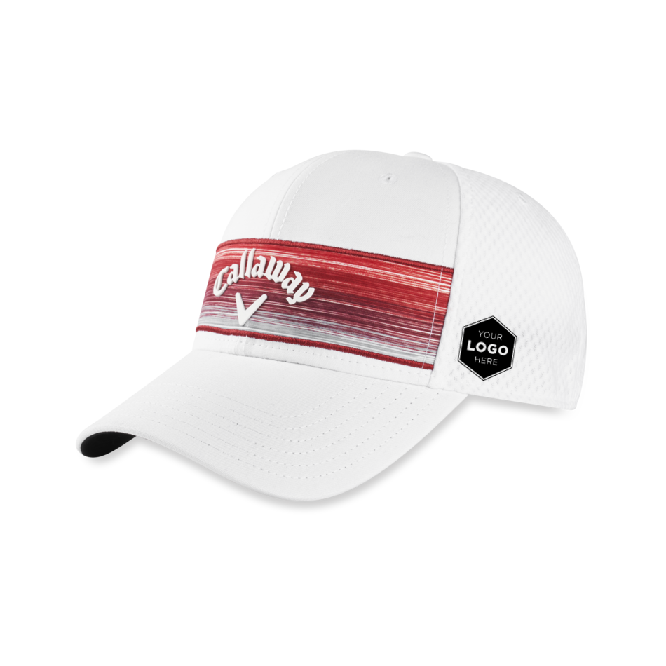 Stripe Mesh Logo Cap - Featured