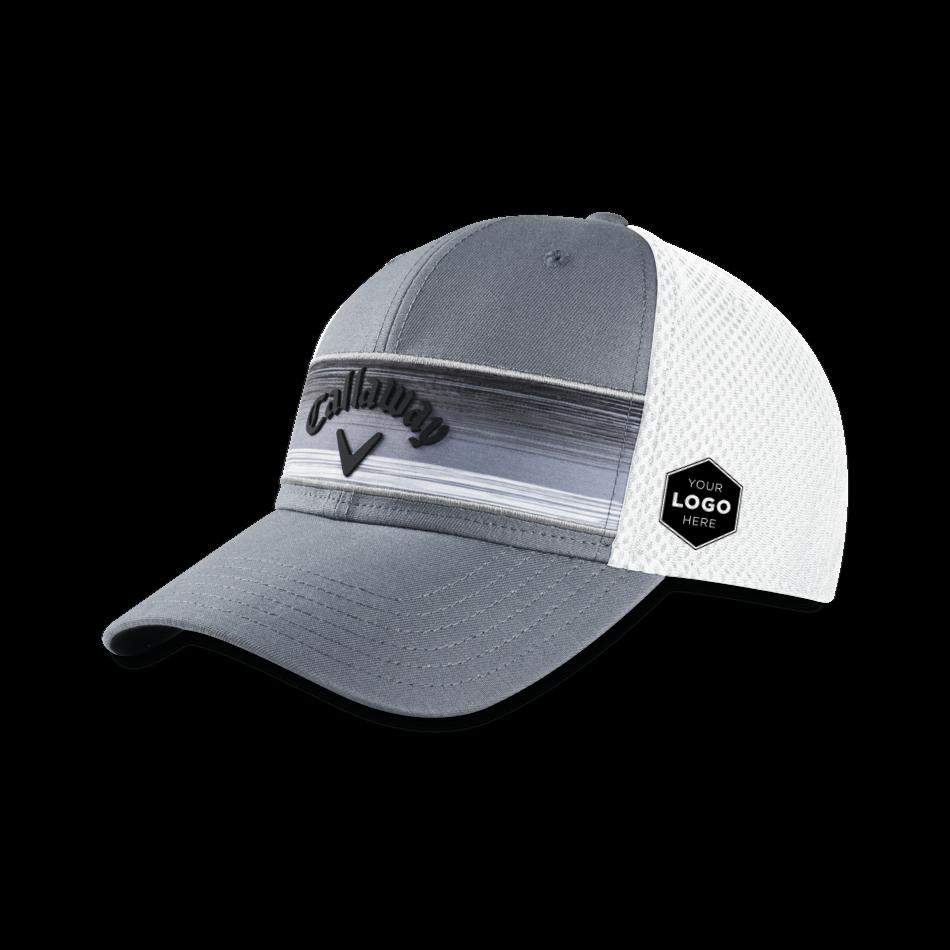 Stripe Mesh Logo Cap - Featured