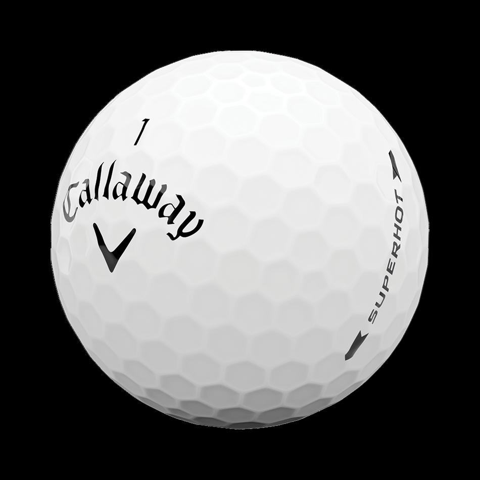 Superhot White 15-Pack Logo Golf Balls - View 4