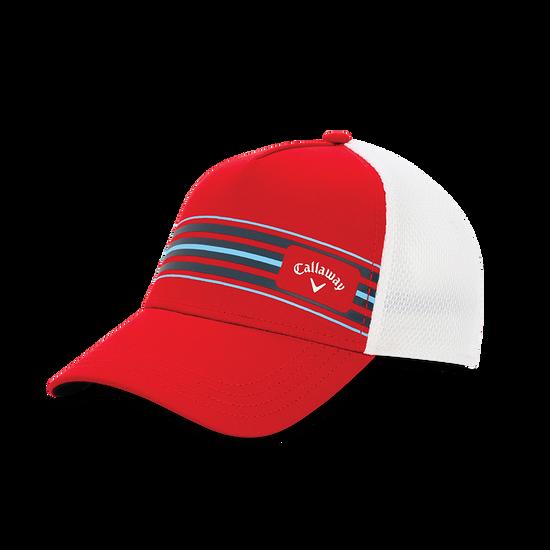 Stripe Mesh Adjustable Cap