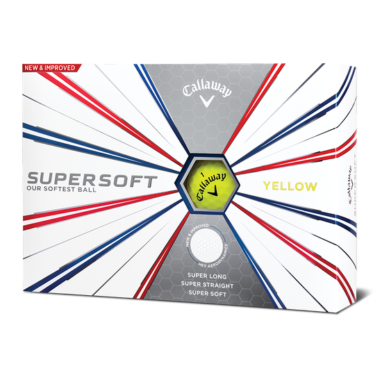 Supersoft Yellow Logo Golf Balls