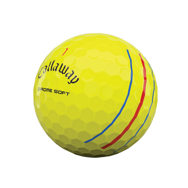 Chrome Soft Yellow Triple Track Logo Golf Balls - View 4