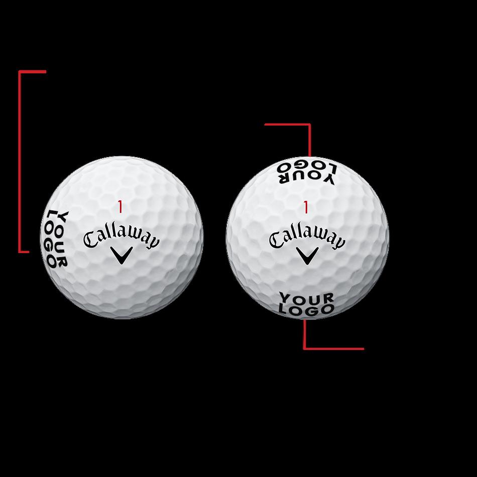Superhot White 15-Pack Logo Golf Balls - View 2