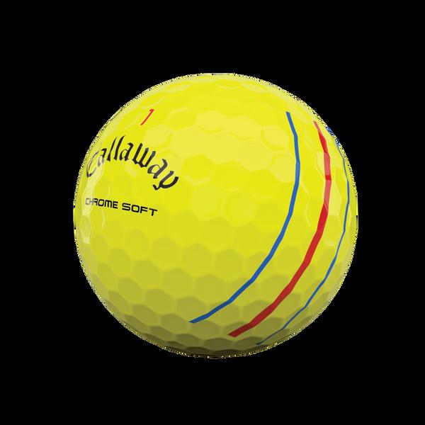 Chrome Soft Yellow Triple Track Golf Balls - View 4