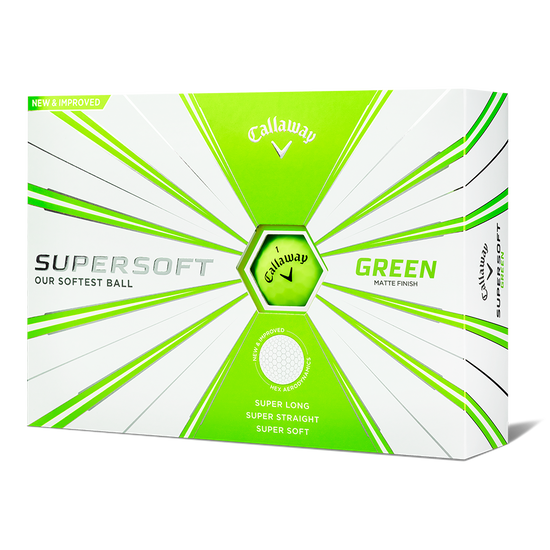 Supersoft Matte Green Logo Golf Balls