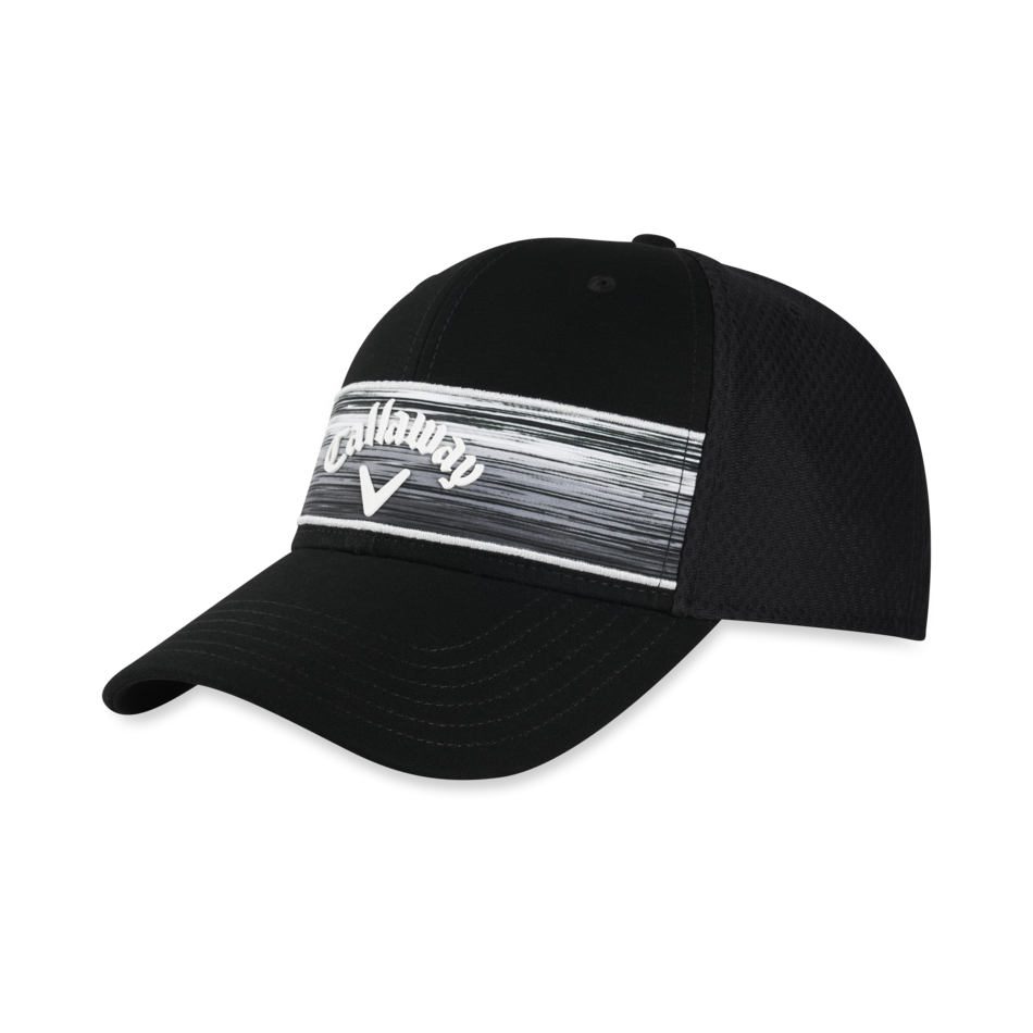 Stripe Mesh Adjustable Cap - Featured