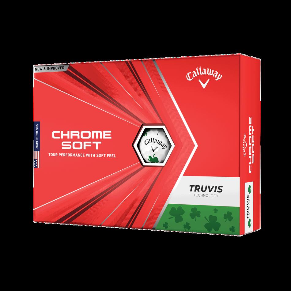Chrome Soft Truvis Shamrock Golf Balls - Featured