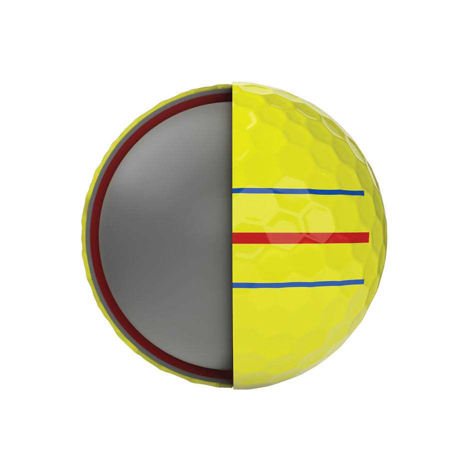 Chrome Soft X Triple Track Yellow Golf Balls - View 5
