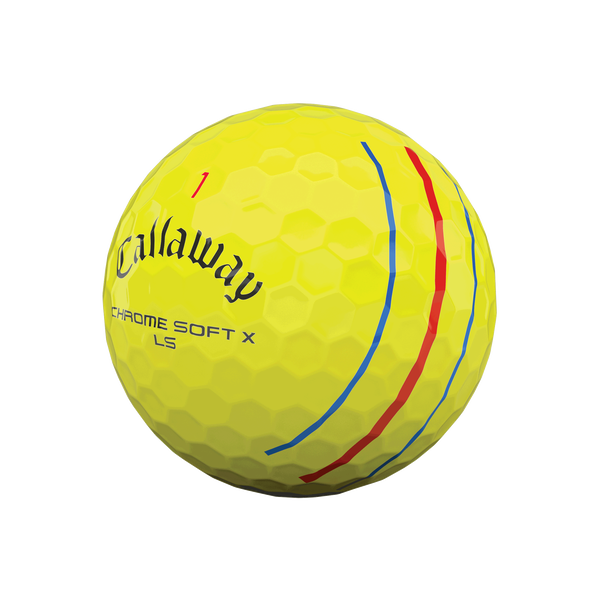 Chrome Soft X LS Yellow Triple Track Golf Balls - View 4