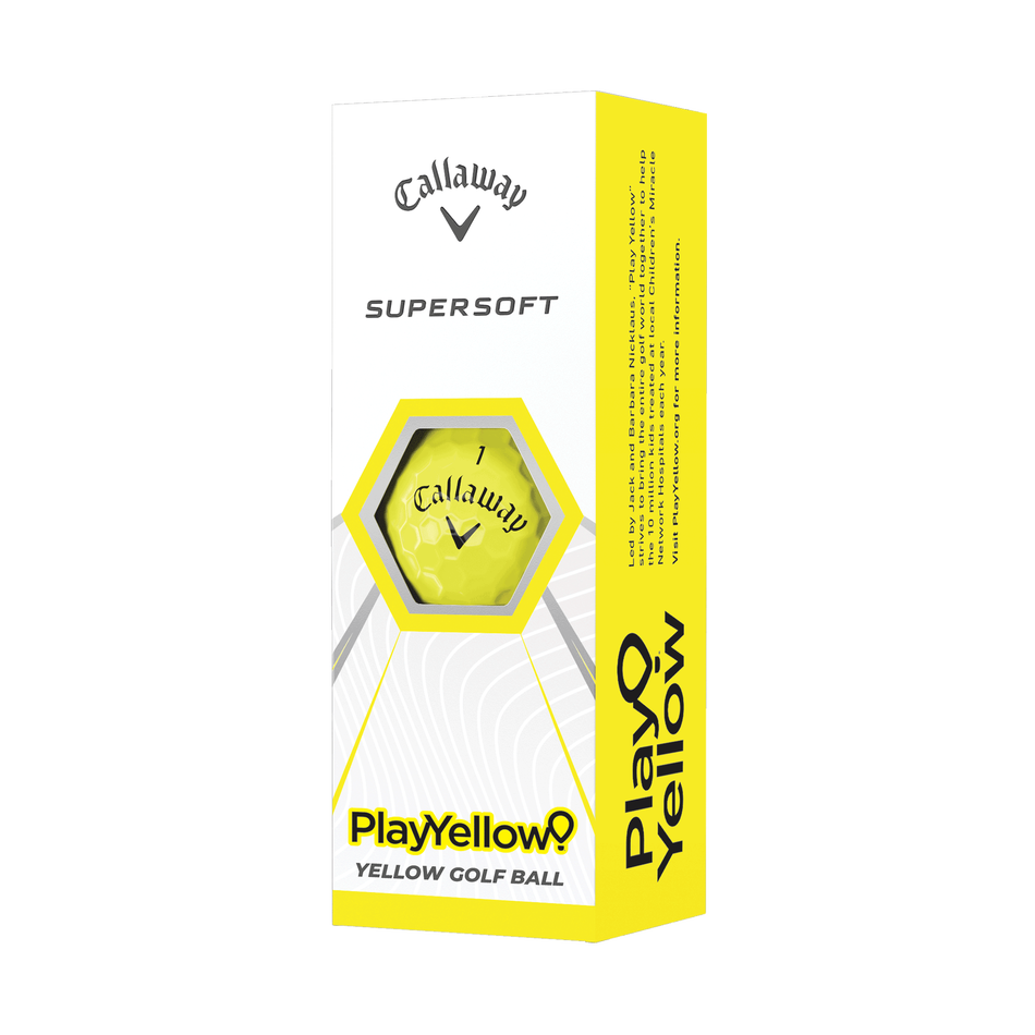 Supersoft Play Yellow Golf Balls - Featured