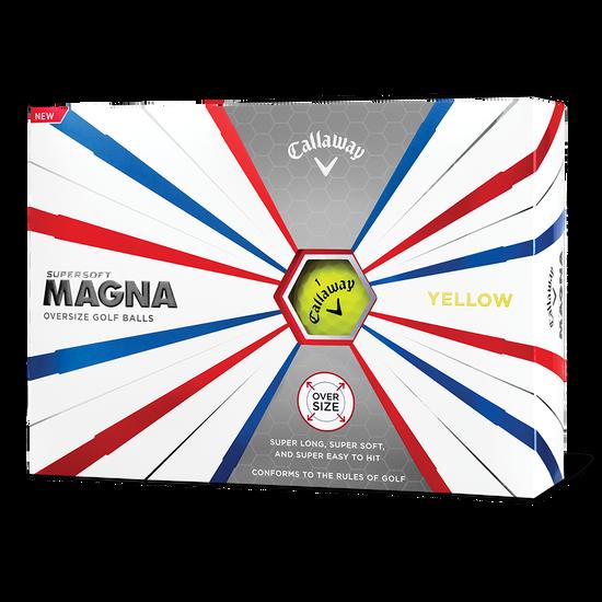 Supersoft Magna Yellow Logo Golf Balls