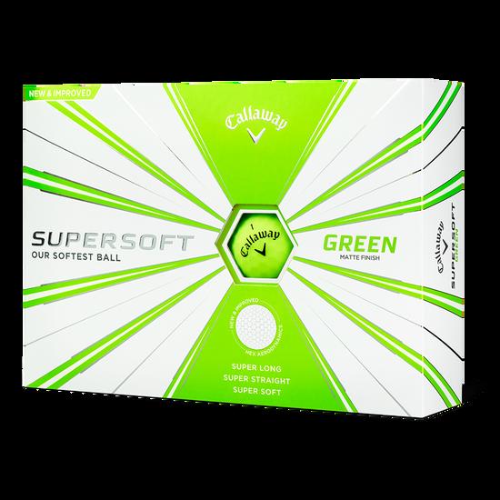 Supersoft Matte Green Logo Golf Balls