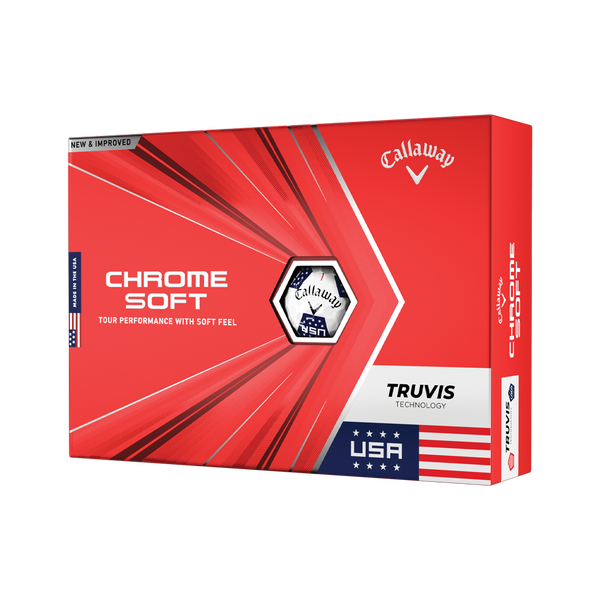 Limited Edition Chrome Soft Truvis USA Golf Balls - View 1