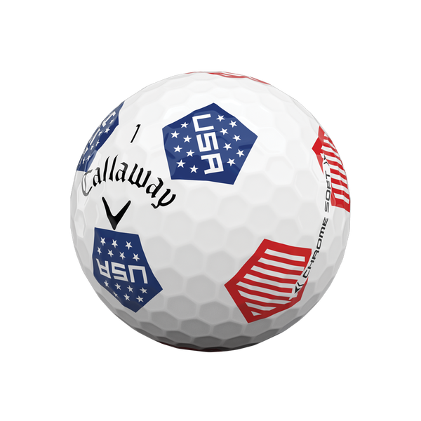Limited Edition Chrome Soft Truvis USA Golf Balls - View 2