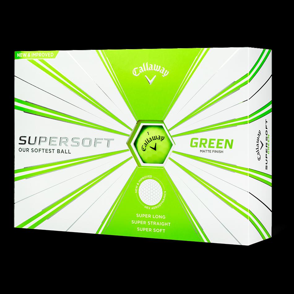 Supersoft Matte Green Logo Golf Balls - Featured