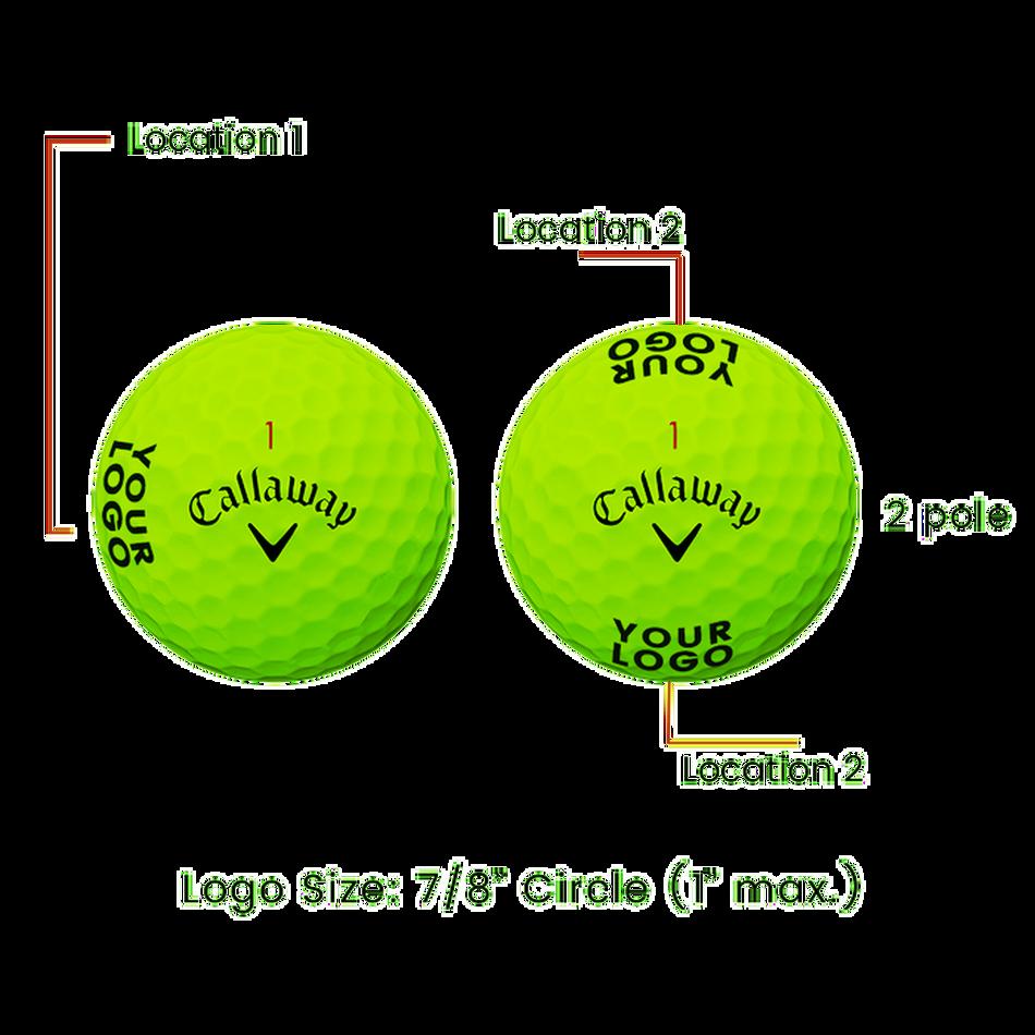 Supersoft Matte Green Logo Golf Balls - View 3