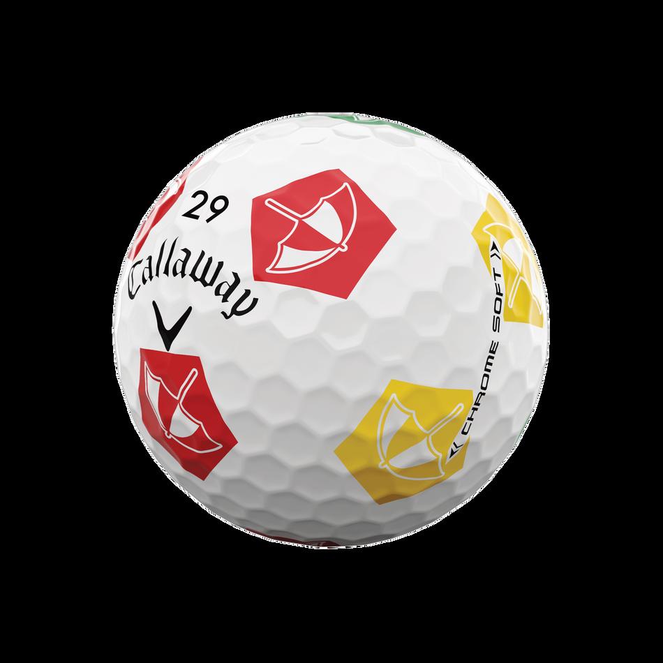 Limited Edition Chrome Soft Truvis Arnold Palmer Umbrella Golf Balls - View 3