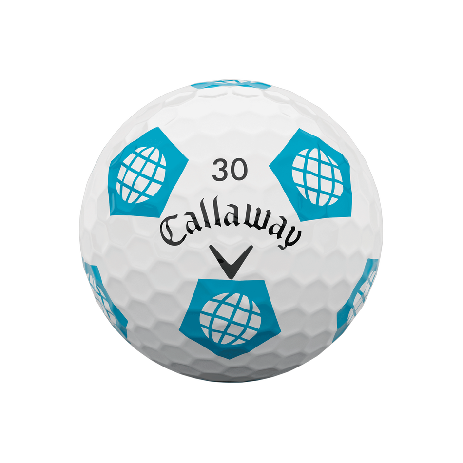 Limited Edition Chrome Soft Truvis Eat. Learn. Play. Golf Balls - View 9