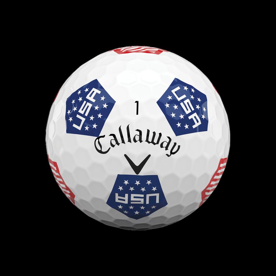 Limited Edition Chrome Soft Truvis USA Golf Balls - View 3