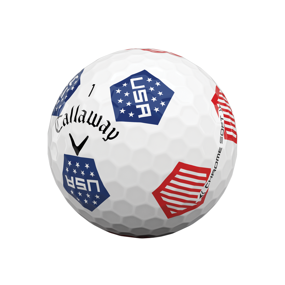 Limited Edition Chrome Soft Truvis USA Golf Balls - View 4