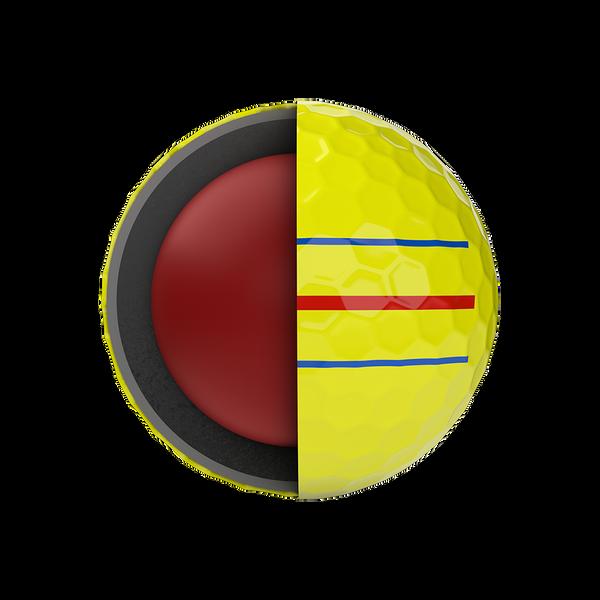 Chrome Soft Yellow Triple Track Logo Golf Balls - View 2