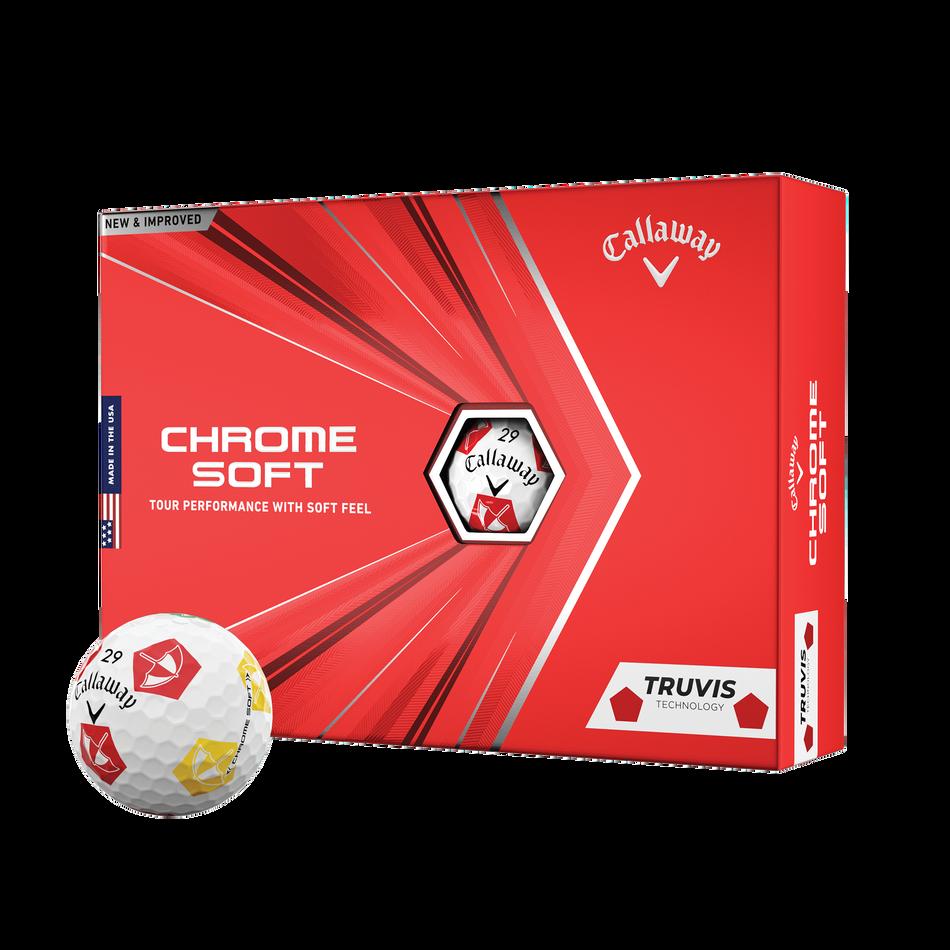 Limited Edition Chrome Soft Truvis Arnold Palmer Umbrella Golf Balls - Featured
