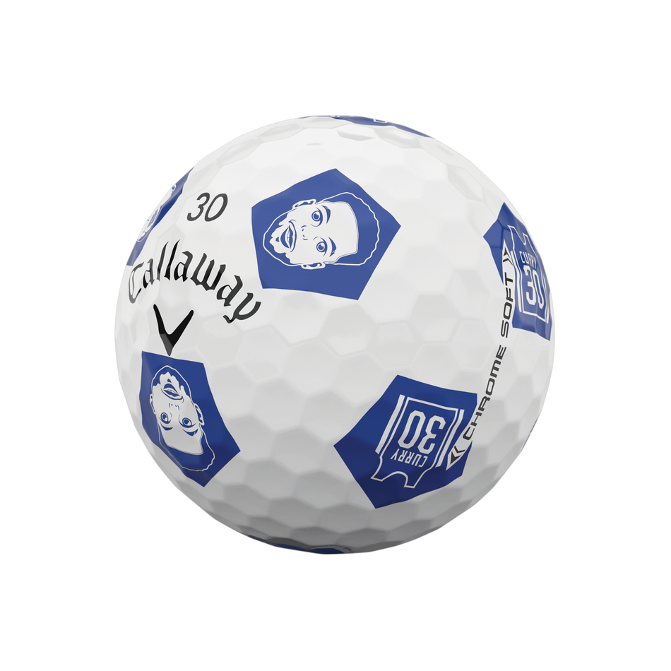 Limited Edition Chrome Soft Truvis Eat. Learn. Play. Golf Balls - View 10