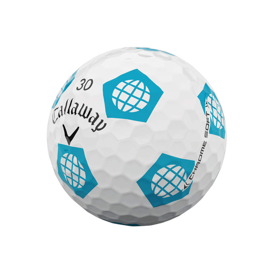 Limited Edition Chrome Soft Truvis Eat. Learn. Play. Golf Balls - View 8