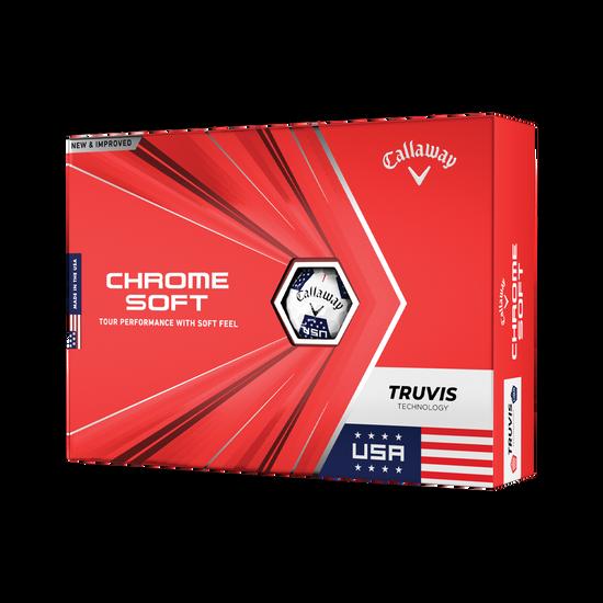 Limited Edition Chrome Soft Truvis USA Golf Balls