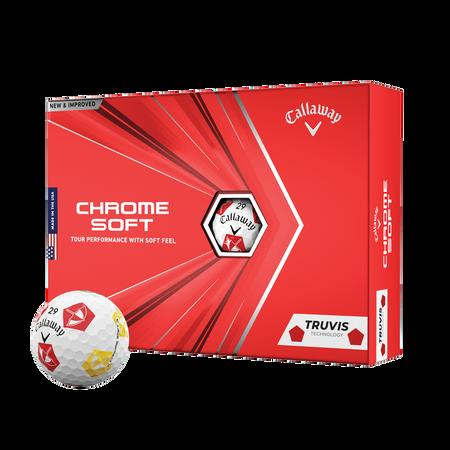 Limited Edition Chrome Soft Truvis Arnold Palmer Umbrella Golf Balls