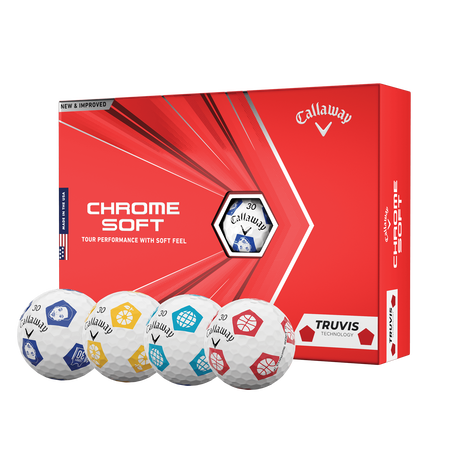 Limited Edition Chrome Soft Truvis Eat. Learn. Play. Golf Balls