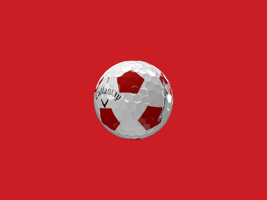 Chrome Soft Truvis Red Golf Balls - Featured