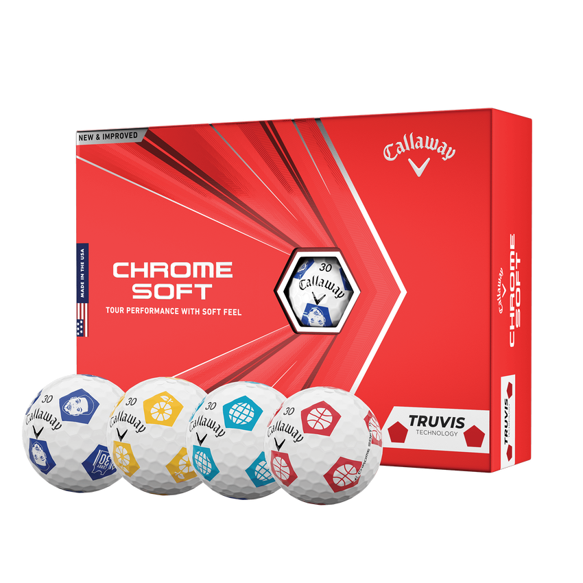 Limited Edition Chrome Soft Truvis Eat. Learn. Play. Golf Balls - View 1