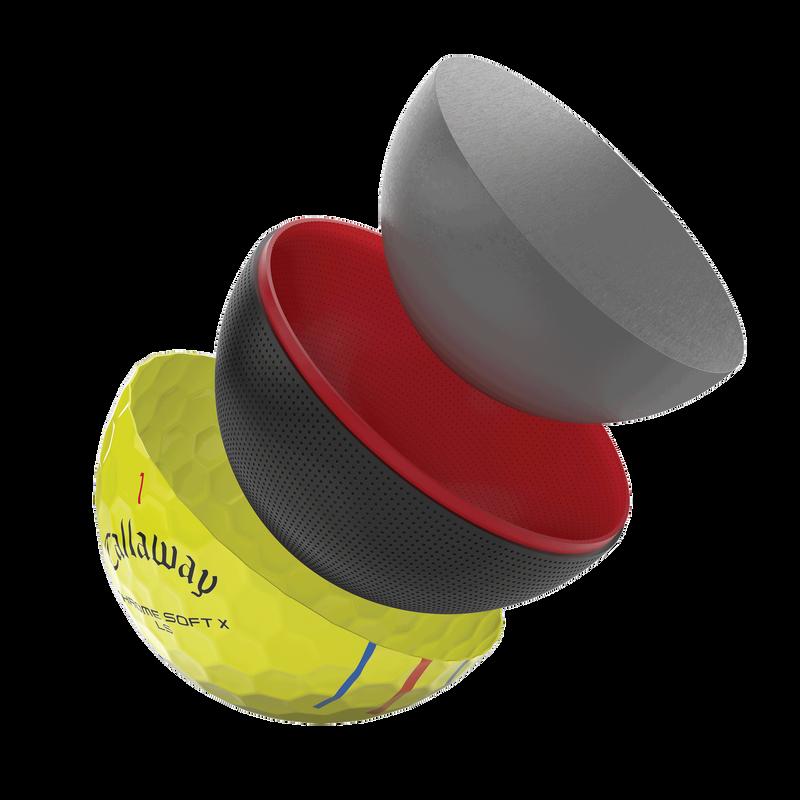 Introducing Chrome Soft X Yellow Triple Track illustration
