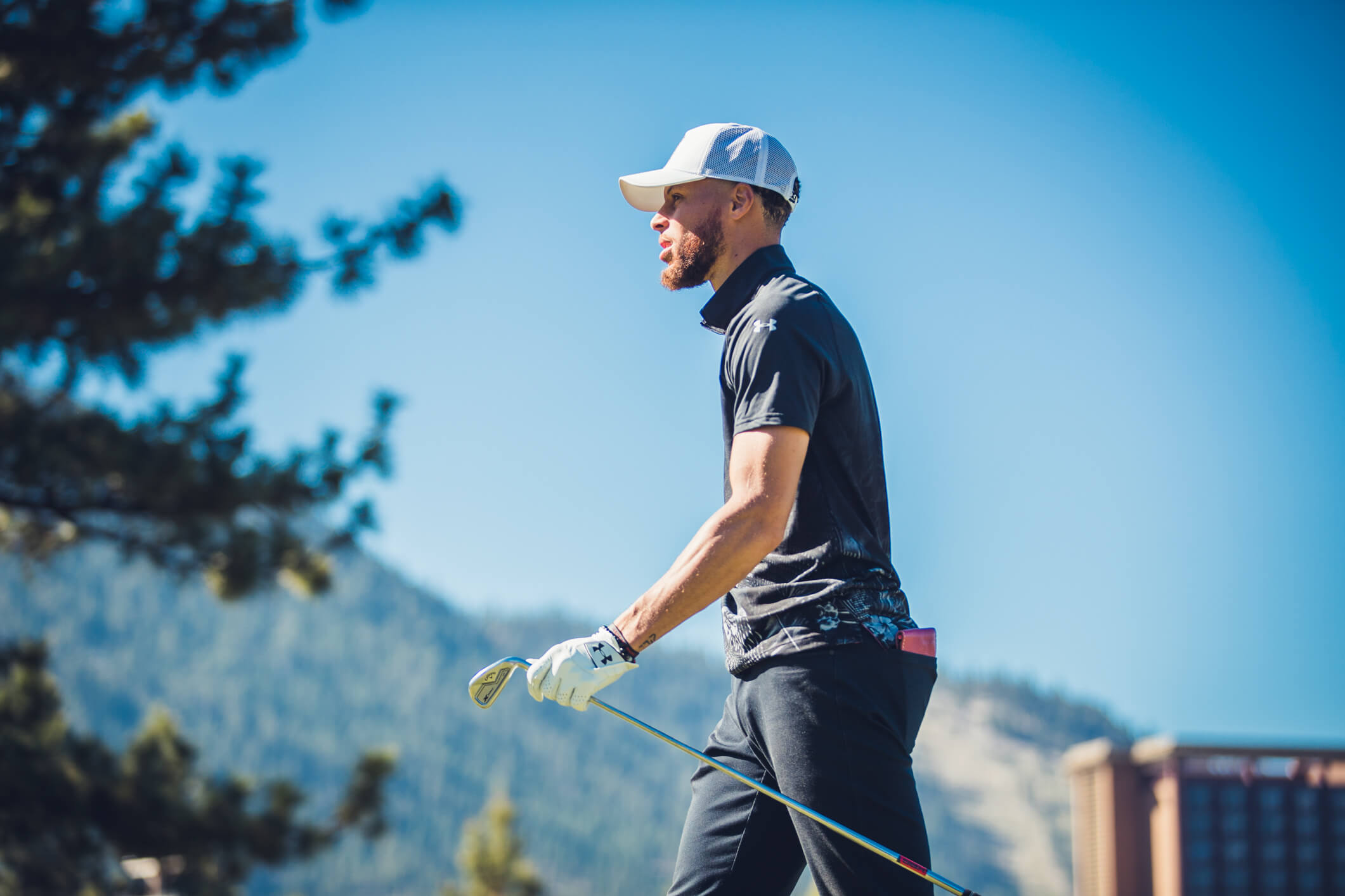 Steph Curry Playing Golf