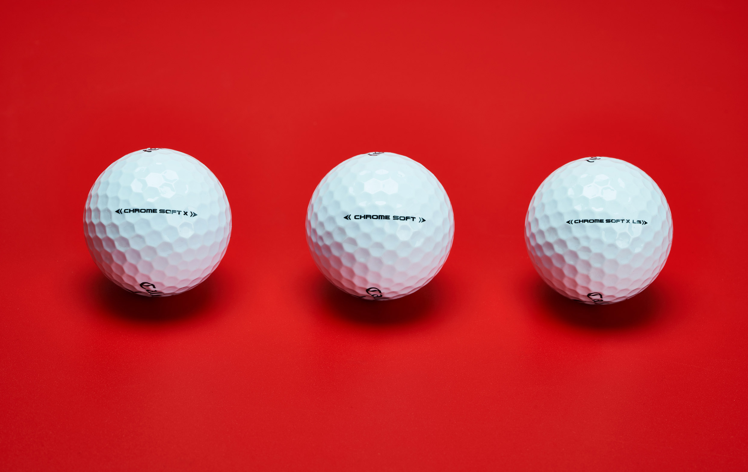 Chrome Soft Golf Ball Family
