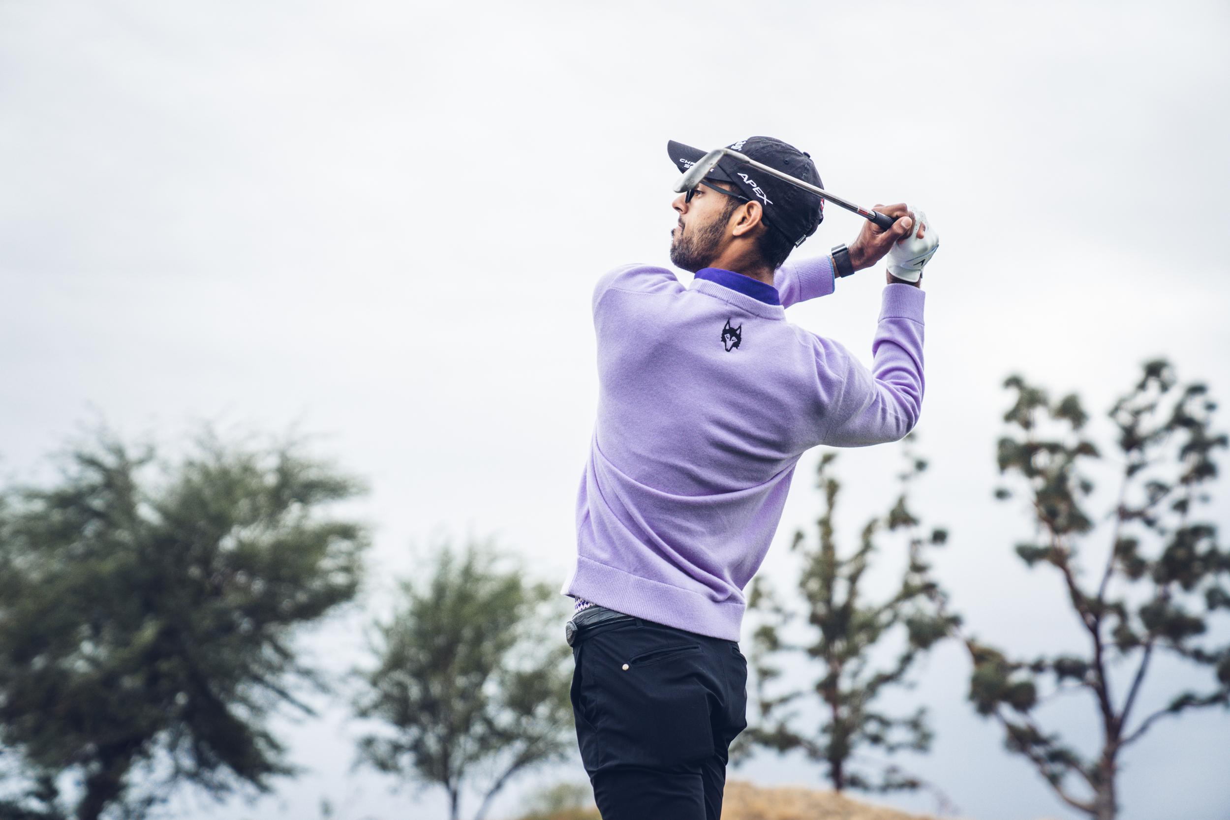Akshay Bhatia Playing Golf