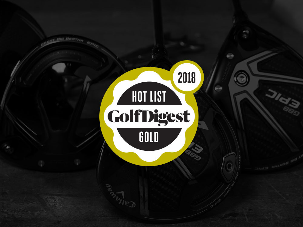 Callaway GBB Epic Driver 2018 Golf Digest Hot List Badge