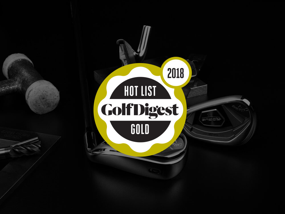 Callaway Rogue X Irons 2018 Golf Digest Hot List Badge