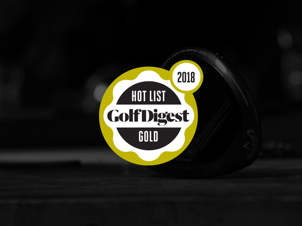 Callaway GBB Epic Fairway Wood 2018 Golf Digest Hot List Badge