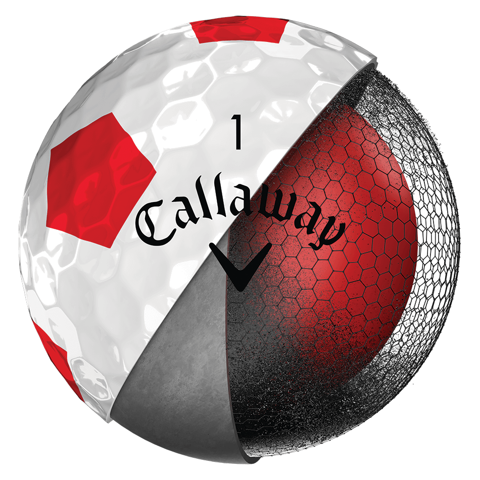 2018 Chrome Soft Truvis Red Golf Balls Technology Item