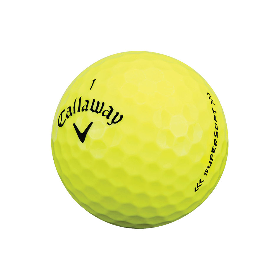 Supersoft 17 Yellow Golf Balls Technology Item