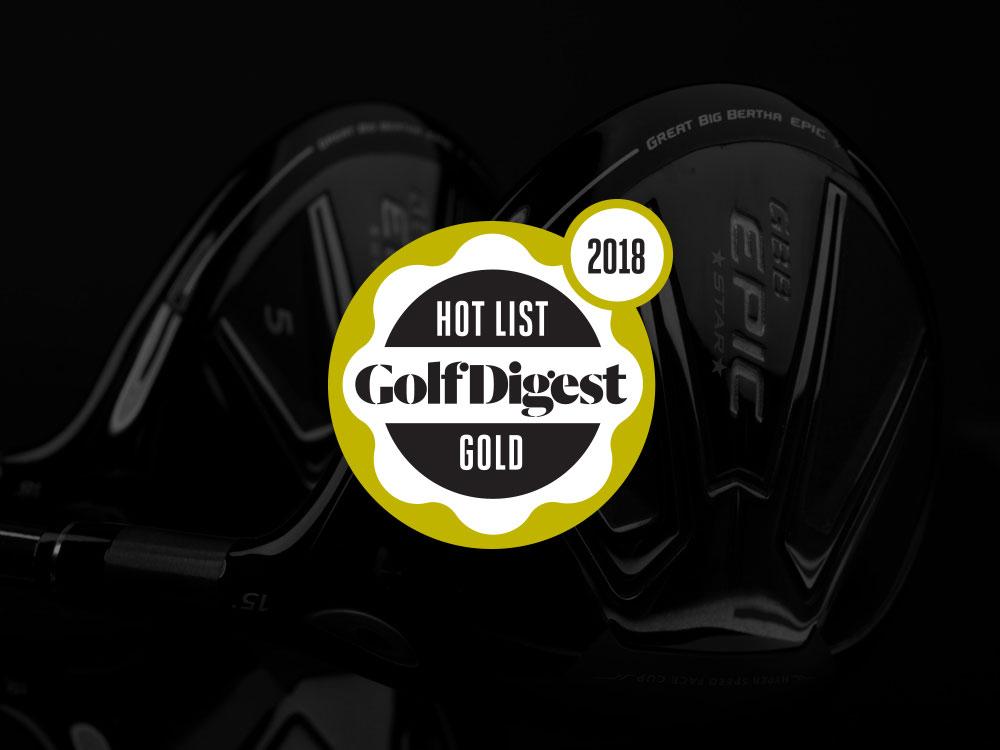 Callaway GBB Epic Star Fairway Wood 2018 Golf Digest Hot List Badge